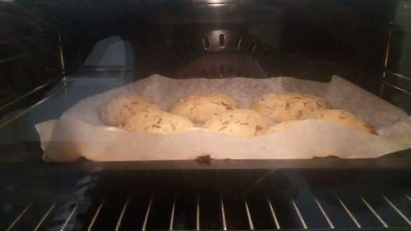 Banana and chocolate chip cookies!